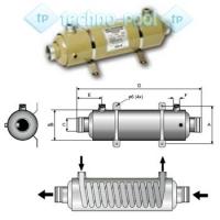 Титановый теплообменник NIC-TECH 75квт.