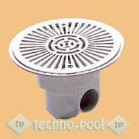 Круглый донный слив из ABS-пластика для бетонного бассейна