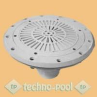 Круглый донный слив из ABS-пластика для пленочного бассейна